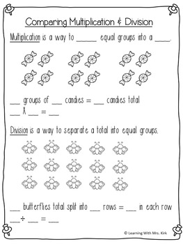 Multiplication and Division Word Problem Mini Unit