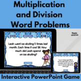 Multiplication and Division Word Problem PowerPoint Game~Winter Themed