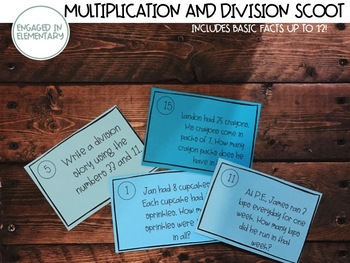 Multiplication and Division Word Problem SCOOT!