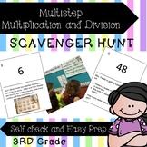 Multiplication and Division Word Problem Scavenger Hunt