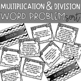 Multiplication and Division Word Problem Sort