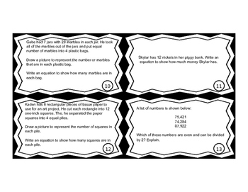 Multiplication and Division Word Problem Task Cards