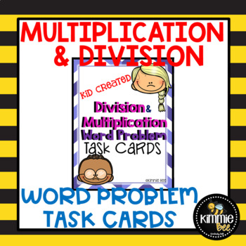 Multiplication and Division Word Problem Task Cards 3rd Grade Math Center Free