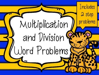 Multiplication and Division Word Problem Task Cards *Anima