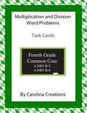 Multiplication and Division Word Problem Task Cards - Four