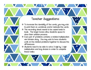 Multiplication and Division Word Problem Task Cards with QR Codes