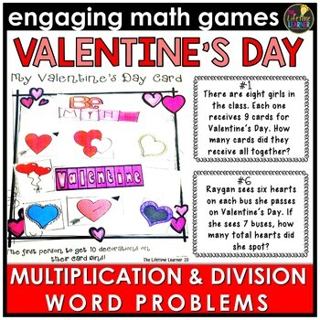 Valentine's Day Multiplication and Division Word Problems