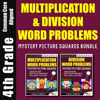 Mixed Multiplication And Division Word Problems 4th Grade Math Coloring Sheets