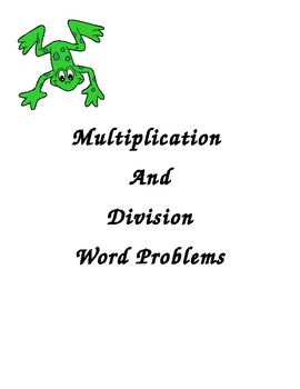 Multiplication and Division Word Problems Activity