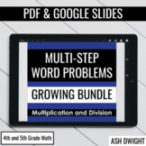 Multiplication and Division Multi-Step Word Problems BUNDLE