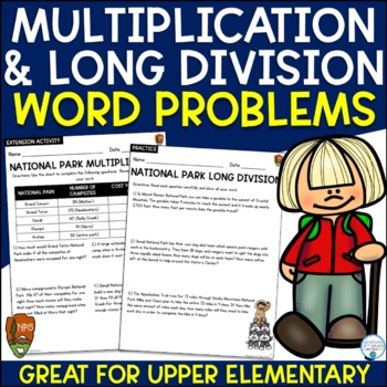 Multiplication and Division Word Problems Bundle