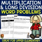 Multiplication and Division Word Problems Bundle (National Parks)
