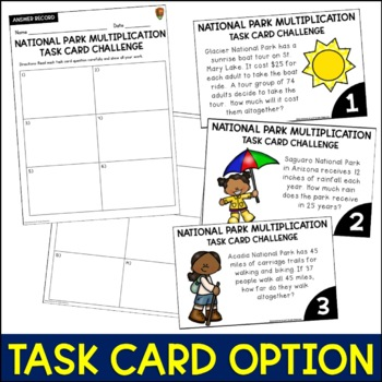 Multiplication and Division Word Problems Bundle (National Parks)