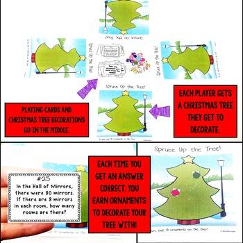 Multiplication and Division Word Problems Christmas Game
