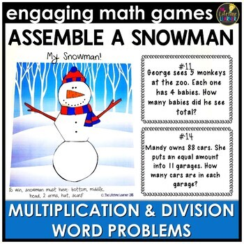 Multiplication and Division Word Problems January Math Center