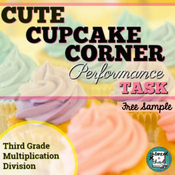 Multiplication and Division Word Problems - Grade 3 Cupcakes