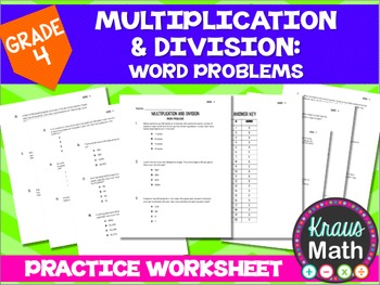 Multiplication and Division Word Problems (Grade 4)