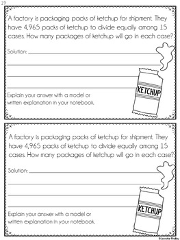 Multiplication and Division Word Problems (Interactive Notebook)