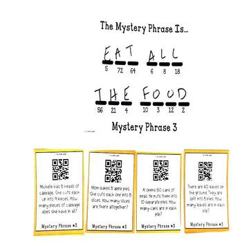 Multiplication and Division Word Problems Thanksgiving Game
