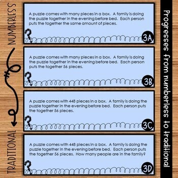 Multiplication and Division Word Problems {Numberless Word Problems}