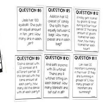Multiplication and Division Word Problems Halloween Game