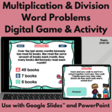 Multiplication and Division Word Problems Digital Game and