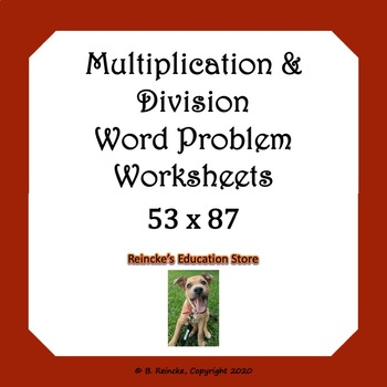 Multiplication And Division Word Problems Worksheets | TpT