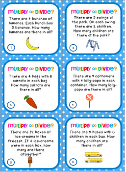 24 Multiplication and Division Word Problems FREEBIE by Inspire ...