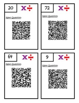 Multiplication and Division Word Problems QR Code Scavenger Hunt - 3.OA.3