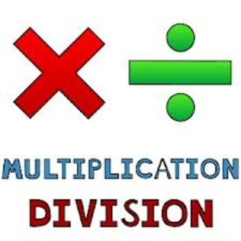 Multiplication and Division Word Problems Quiz  (10 Q)