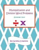 Multiplication and Division Word Problems Scavenger Hunt - 4.NBT.B.5  4.NBT.B.6