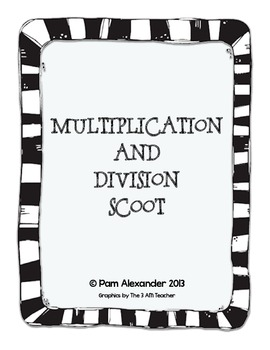 Multiplication and Division Word Problems Scoot