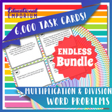 Multiplication and Division Word Problems Task Cards ENDLESS Bundle