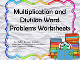 Multiplication and Division Word Problems Worksheet