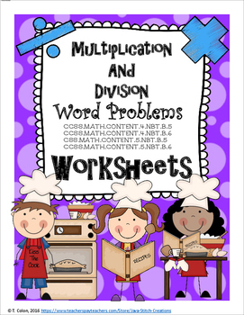 Multiplication and Division Word Problems Worksheets
