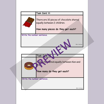 Multiplication and Division Word Problems, Worksheets and Task Cards