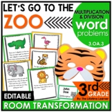 Multiplication and Division Word Problems   Zoo Math Classroom Transformation