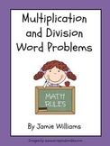Multiplication and Division Word Problems for grades 3-4