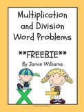 Multiplication and Division Word Problems- grades 3-4
