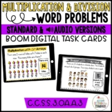 Multiplication and Division Word Problems with Arrays Boom Cards