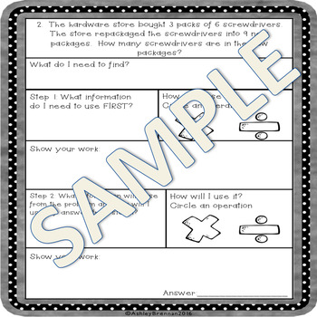 Multiplication and Division Word Problems with Graphic Organizers BUNDLE