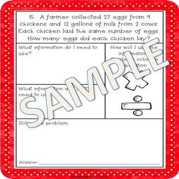 Multiplication and Division Word Problems with Graphic Organizers NO PREP