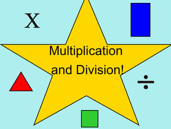 Multiplication and Division Work