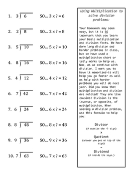 Multiplication and Division Worksheet