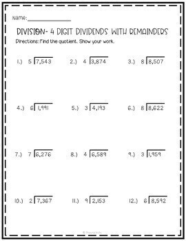 Multiplication and Division Worksheets | 4th Grade by ...