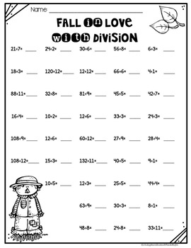 Multiplication and Division Worksheets BUNDLE