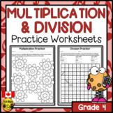 Multiplication and Division Worksheets Grade 4
