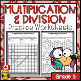 Multiplication and Division Worksheets Grade 5
