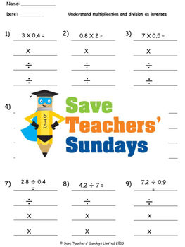Multiplication and Division as arrays and inverses lesson plans and more