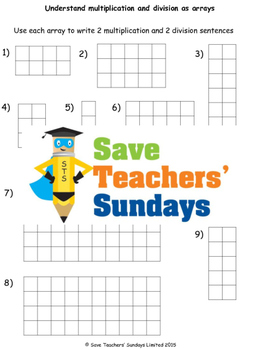 Multiplication and Division as arrays and inverses lesson